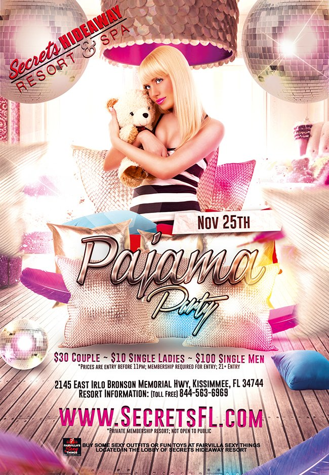 Events - Pajama Party Orlando, Florida Lifestyle and Swinger Parties