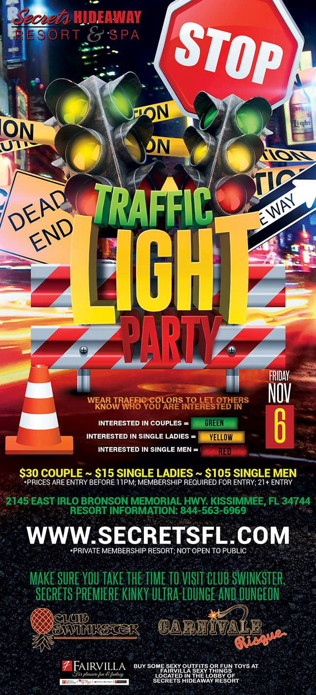 Events - Traffic Light Orlando, Florida Lifestyle and Swinger Parties