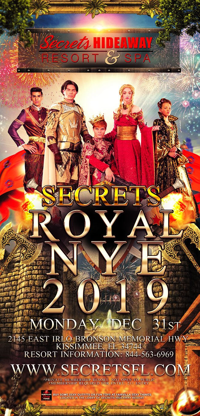 Events - Royal NYE Hotel Takeover Orlando, Florida Lifestyle and Swinger Parties