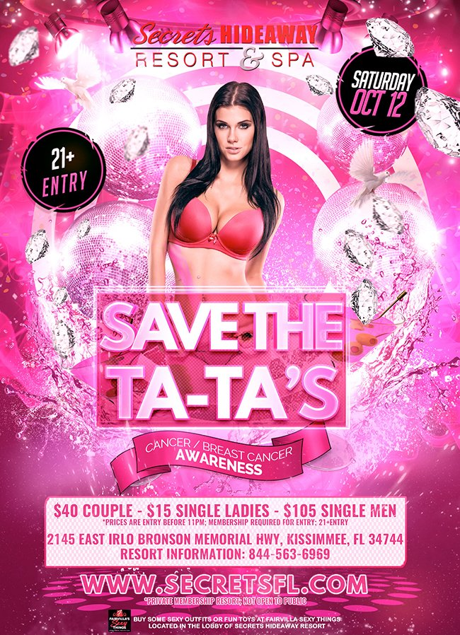 Events - Save the Ta-Ta's Orlando, Florida Lifestyle and Swinger Parties