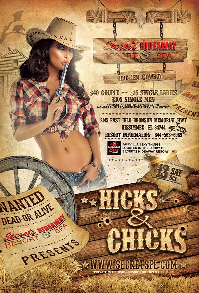 Events - Hicks & Chicks Orlando, Florida Lifestyle and Swinger Parties