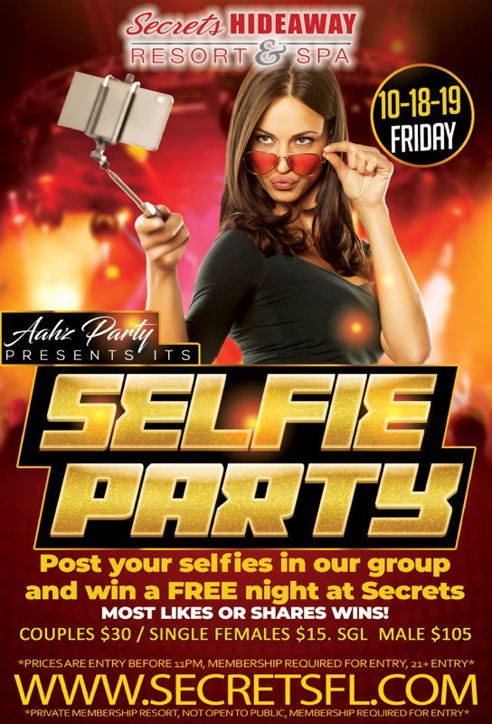 Events - Aahz Selfie Party Orlando, Florida Lifestyle and Swinger Parties