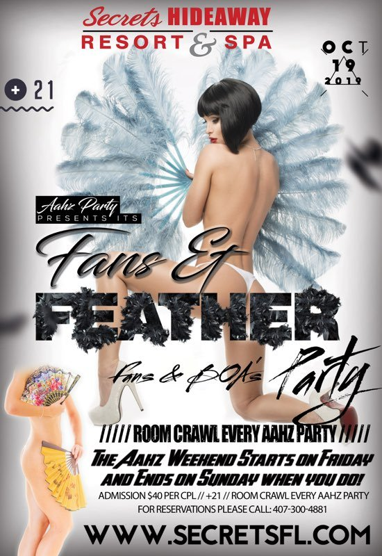 Events - Fans & Feathers - Aahz Party Orlando, Florida Lifestyle and Swinger Parties