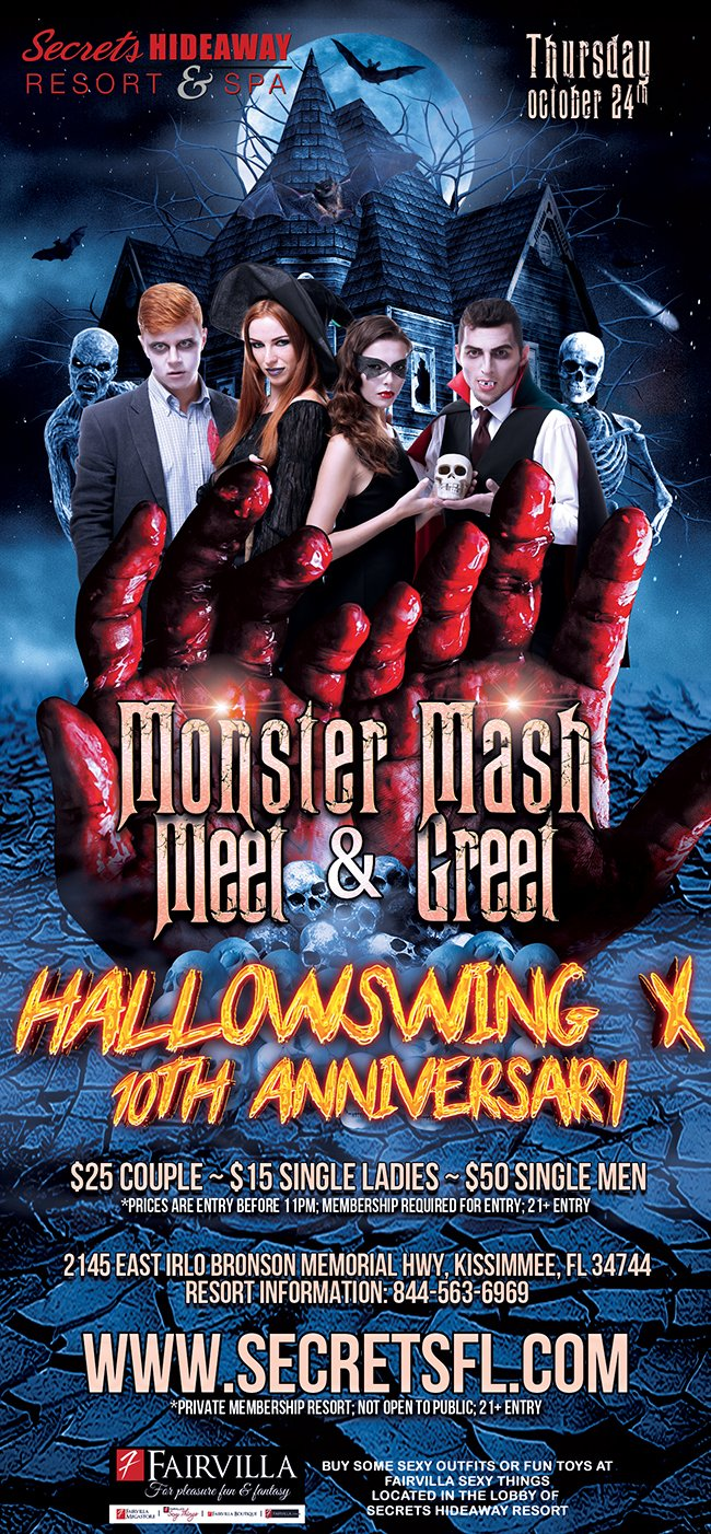 Events - Monster Mash Meet & Greet - Hallowswing X Orlando, Florida Lifestyle and Swinger Parties
