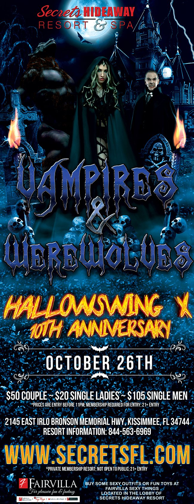 Events - Vampires & Werewolves - Hallowswing X Orlando, Florida Lifestyle and Swinger Parties