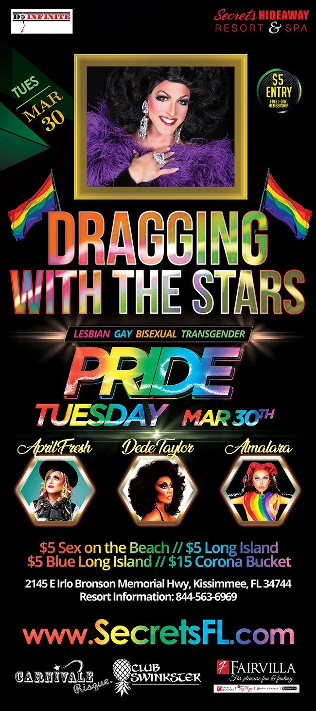Events   Dragging with the Stars   Pride Tuesday Orlando, Florida ...