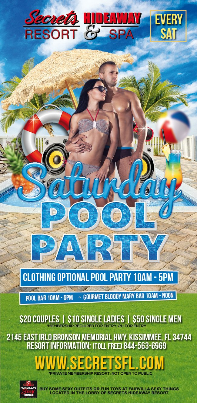 Events - Saturday Pool Party Orlando, Florida Lifestyle and Swinger Parties