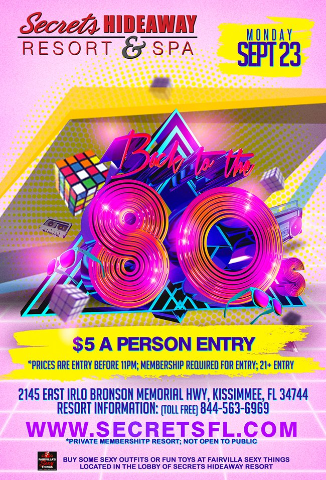 Events - 80's Dance Party Orlando, Florida Lifestyle and Swinger Parties