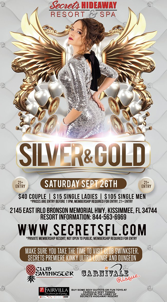 Events - Silver & Gold Orlando, Florida Lifestyle and Swinger Parties