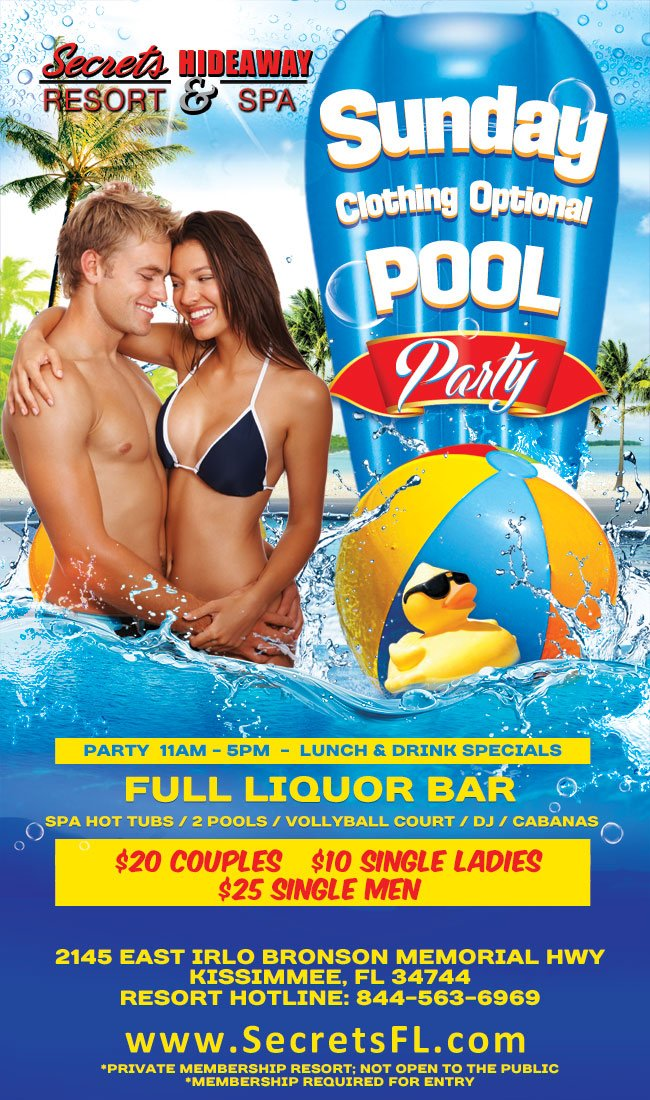 Events - Sunday Pool Party Orlando, Florida Lifestyle and Swinger Parties