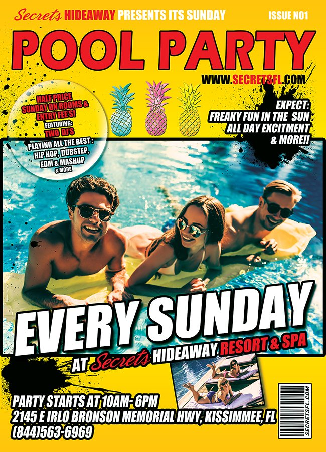 Events - Sunday Pool Party 10am-5pm Orlando, Florida Lifestyle and Swinger Parties