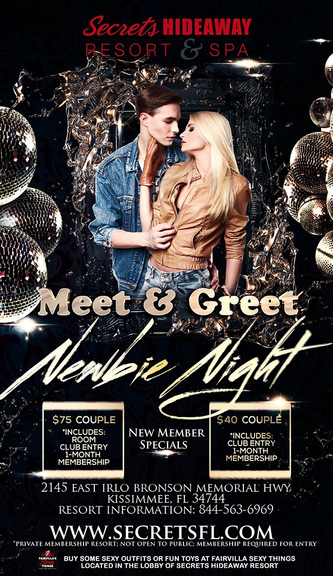 Events - Meet & Greet - Newbie Night Orlando, Florida Lifestyle and Swinger Parties