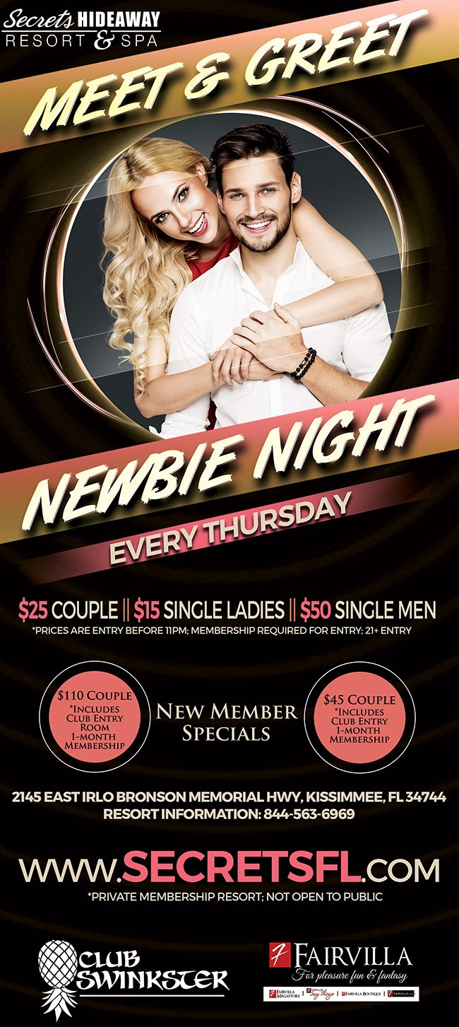 Events - Newbie Night - Meet & Greet Orlando, Florida Lifestyle and Swinger Parties
