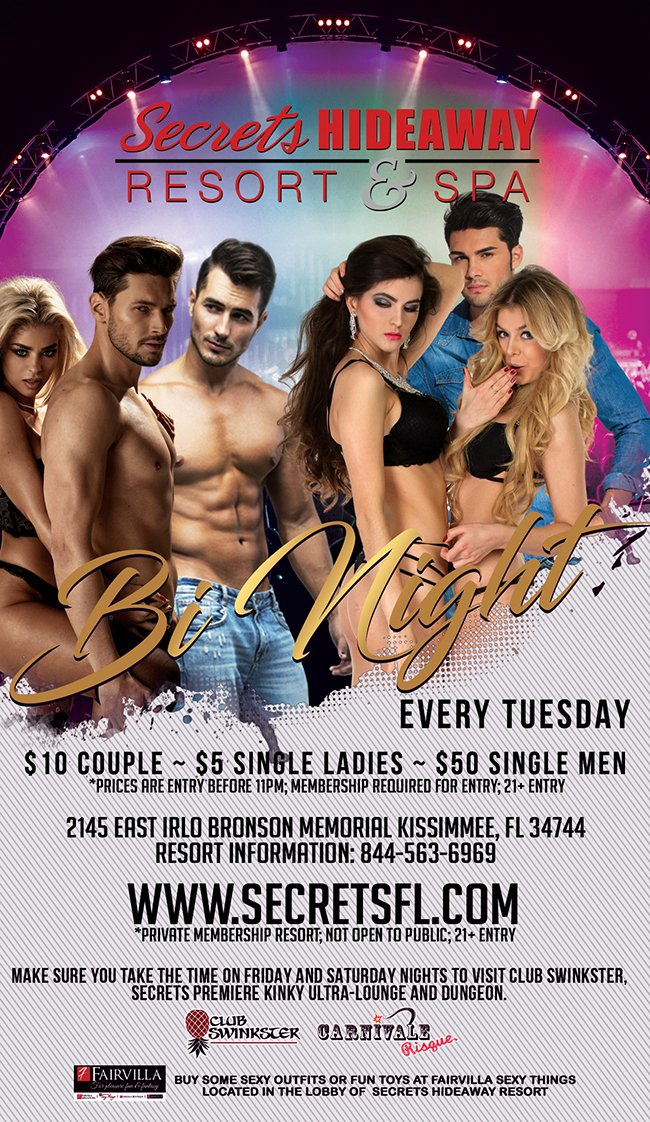 Events - Bi Night Orlando, Florida Lifestyle and Swinger Parties