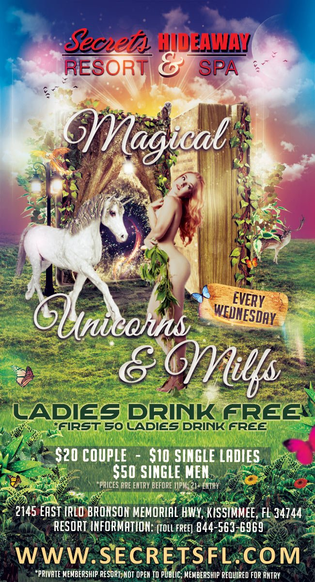 Events - Magical Unicorns and MILFs Orlando, Florida Lifestyle and Swinger Parties