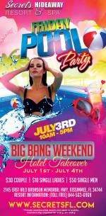 Friday Pool Party 10am-5pm - Big Bang Takeover