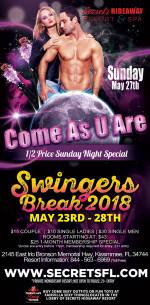 Come As U Are Swingers Break 2018