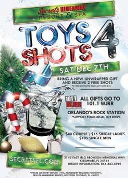 Toys 4 Shots at Secrets Hideaway!
