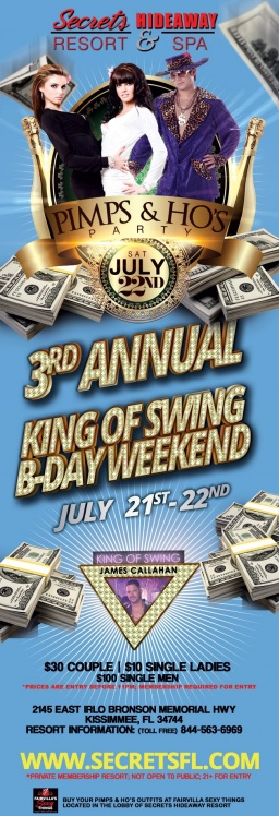 This week at Secrets Hideaway - King of Swing B-Day Wee