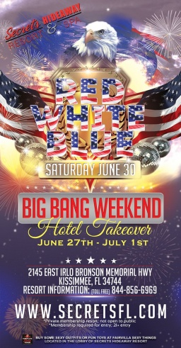 It's Big Bang Takeover 2018 at Secrets Hideaway!!!