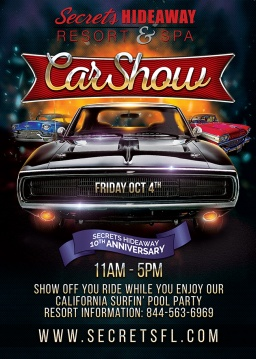 Secrets celebrates 10 years with a SEXY CAR SHOW!